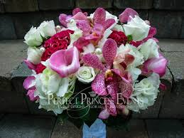 wedding flowers orchids joanna and aaron hot pink and navy blue wedding ct wedding