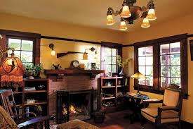 nice chandelier lamp for bungalows with small seat on the wooden