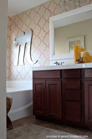 master bathroom makeover coral and yellow no 2 pencil