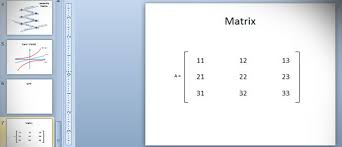 to add simple matrix in powerpoint 2010