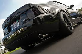 2004 Mustang Cobra Black 18x9 18x11 Chicane In Satin Black With Chrome Lips U2039 True Forged