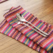 torchons en lin aliexpress com acheter bohême style bande de mariage serviettes