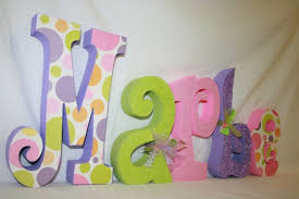 name letter pattern baby nursery decor colorful combination of pattern baby name