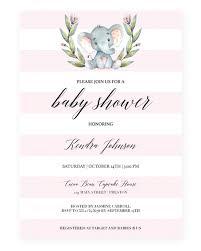 elephant baby shower invitation template baby shower invite
