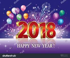 new year backdrop postcard happy new year 2018 against stock vector 751196185