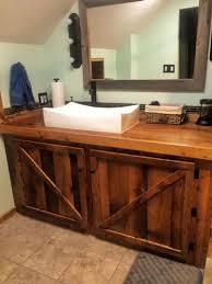 Reclaimed Wood Vanity Bathroom Bathroom Upgrade Ohio Valley Reclaimed Wood