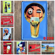 20 30cm tin signs metal painting craft plaque for home bar old