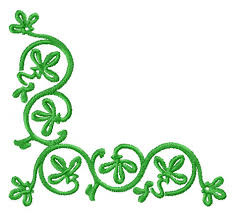 4 hobby machine embroidery designs ornaments green