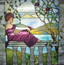 hand painted features in this stained glass window measuring 65