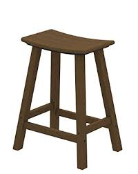 Counter Height Outdoor Bar Stools Amazon Com Polywood 2001 Te Traditional Counter Height Saddle