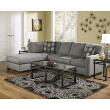 coffee table furniture l shaped grey sectional sofa with round