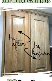 how to refurbish wood cabinets how to make oak cabinets look new again no sanding or painting