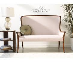 High Back Settee With Arms High Curved Back Settee Upholstered In Mazo