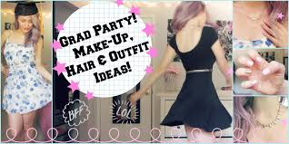 get ready with me grad party make up hair u0026 ideas
