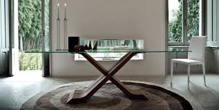Contemporary Dining Table Contemporary Dining Table Wooden Glass Rectangular Hector