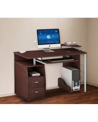 Desk With Computer Storage Huge Deal On Merax Computer Desk With 2 Drawers Keyboard Tray