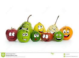 cartoon fruit characters stock vector image of design 9030579