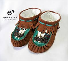 intricate beaded moccasin slippers northern heart designs