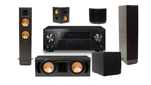 pioneer home theater systems pioneer vsx 531 b stock 5 1 channel av receiver w klipsch rf 82