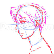 12 side view male anime face drawing tutorial