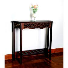 very narrow console tables for small hallways