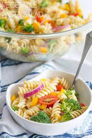 pasta salda vegetable pasta salad recipe bread booze bacon