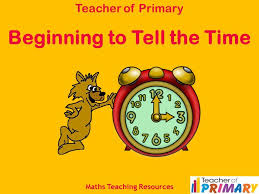 beginning to tell the time teaching resource youtube