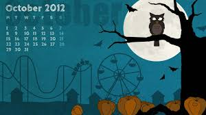 owl pumpkin year halloween calendar tree attractions moon night