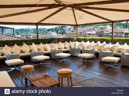 the rooftop bar called the skylounge of the hotel continentale in