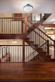 Interior Handrail Height Wainscoting Height Staircase Craftsman With Decorative Railing