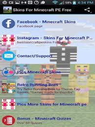 minecraft pe free apk skins for minecraft pe free apk free personalization