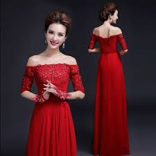 dress for wedding party women s beaded lace a length dew shoulder
