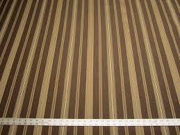 Striped Upholstery Fabric 7 3 8 Yards Of Preston Color Brown Stripe Upholstery Fabric
