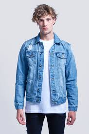 Denim Blue Buy Ripped Denim Jacket Blue