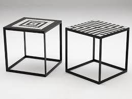 black and white side table popular black side table with temperature design tiled side table