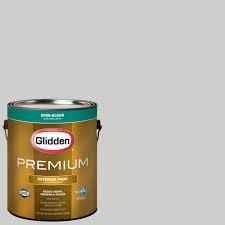 glidden premium 1 gal hdgcn61 universal grey semi gloss latex