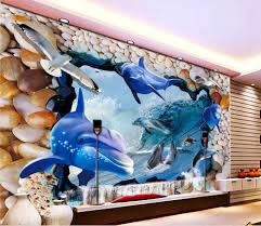 online get cheap dolphin wall mural aliexpress com alibaba group
