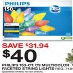 target black friday philips lights philips c9 150 ct multicolor faceted string lights for 40 00 at