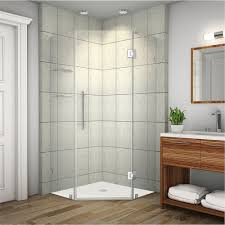 Angled Glass Shower Doors Aston Neoscape Gs 36 In X 72 In Frameless Neo Angle Shower