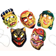 vintage halloween decorations reproductions amazon com vintage halloween masks garland handmade photo