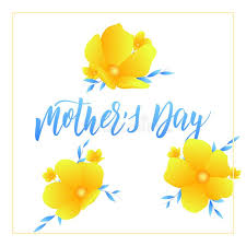 flowers for s day mothers day card layout with calligraphy lettering and