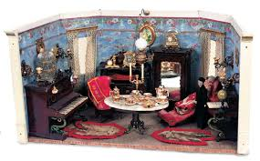 Dollhouse Dining Room Furniture by Puppen U0026 Spielzeug Museum 297 Fine German Dollhouse Room With