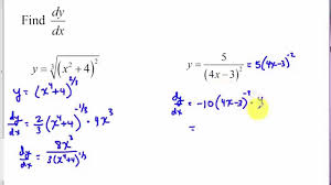 chain rule and generalized power rule tutorial youtube