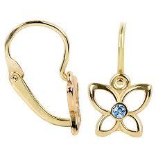 cercei de aur brilio cercei din aur pentru copii fluture albastru 236 001 00986