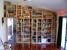 home made bookshelves bookcase bookcase rolling ladder hardware rolling bookshelf
