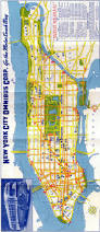 Chicago Trolley Map by New York City Omnibus Co Bus Map Late 1940s Early 1950s