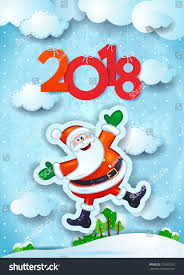 new year background funny santa text stock vector 727687225