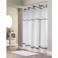 Gray Shower Curtain Liner Buy Black Hookless Shower Curtain From Bed Bath U0026 Beyond