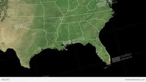 satellite map of florida florida state usa extruded on the satellite map stock animation