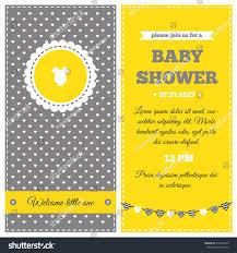 royalty free baby shower invitation yellow white u2026 216432325